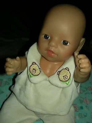 Zapf Creations Boy Doll 2011 dressed  12 inch  with sounds