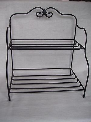 LONGABERGER wrought iron BAKERS RACK BASKET/POTTERY HOLDER STAND