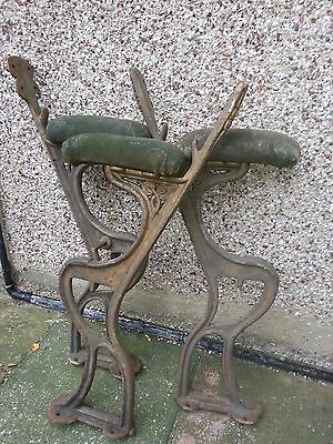 Victorian Bench Ends - Cast Iron With Detail - Ironmongery