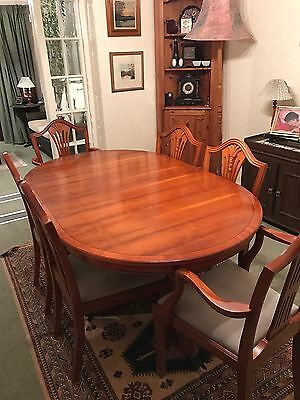 Regency Style Dinning Table And Six Chairs Ewe Wood