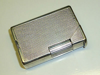"Dunhill Paris ""alduna"" Solid Silver Lighter - 1940 - Made In France - Very Rare"