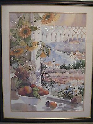 """2 X Large Framed Prints By Marilyn Simandle""""waterfront Village"""" & """"sunshine Bay"""""""