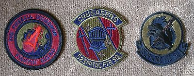 USAF Patch  -  3 x Cannon AFB 522nd TFS, 523rd TFS,  524th TFS,  F-111 Subdued