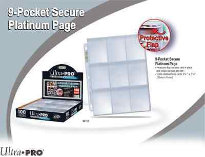 Ultra Pro Secure 9 Pocket Pages - Platinum Series - 25 Pages
