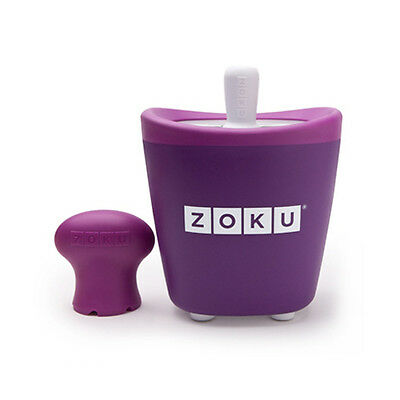 Zoku Quick Pop Purple - Single Ice Lolly maker - Easy quick to make fun ice pops