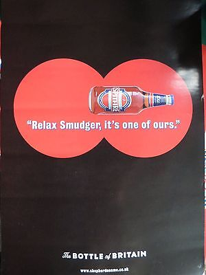 """Shepherd Neame Poster """"Relax Smudger It`s One Of Ours"""" Bottle Of Britain"""