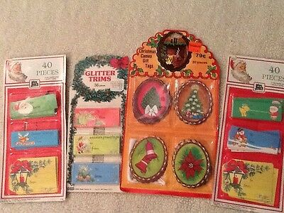 Vintage Lot 100 + Christmas Gift Package Hang Tags