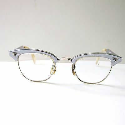 Vintage Eye Glasses American Optical Aluma 50s 60s Half Frame Cat Eye Retro