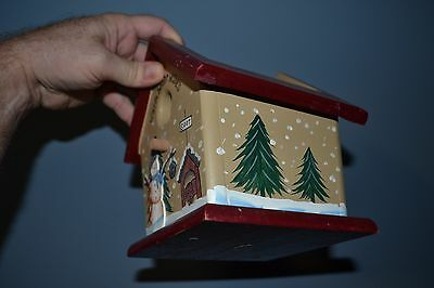 ~ Warm Winter Wishes Home Decor Napkin Holder Bird House Shaped Christmas Item ~