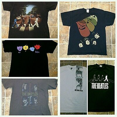 The Beatles t shirts size L lot of 6