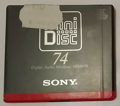 Minidisc SONY MDW-74 1993 FIRST (new and sealed) 4901780213566