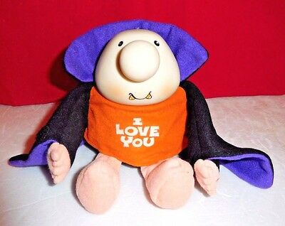 """Vintage 1993 ZIGGY I Love You Candy Corn Fangs Vampire Plush Toy Doll 6"""" NWT"""