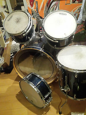 5 Piece Drum Kit Gretsch Catalina Birch Caribbean Blue Rare