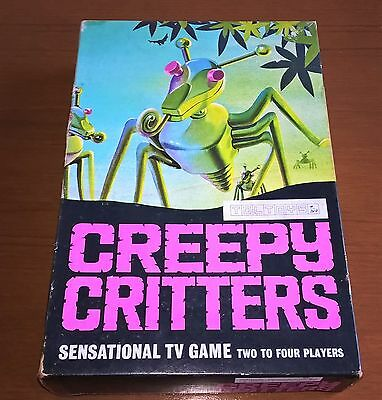 Vintage Creepy Critters Game by Toltoys 1960s - Fully Complete