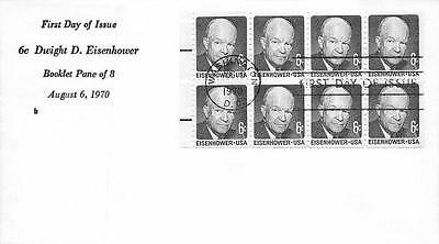 1393a 6c Dwight D. Eisenhower Booklet Pane, First Day Cover Cachet [Q160934]