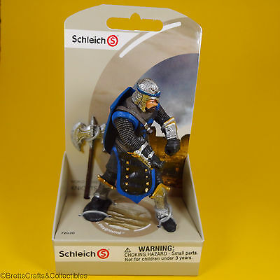 Schleich - World of History Knights Blue Dragon Knight with Battle Axe 72030