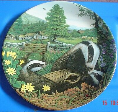 Davenport Collectors Plate BADGER FAMILY