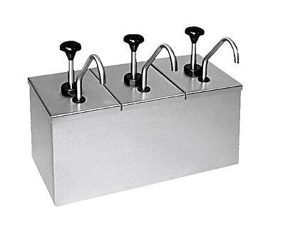 Carlisle 386230IB Insulated Topping Rail w/ 3 Stainless Condiment Pumps
