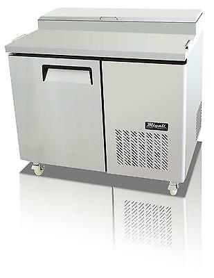 Migali C-PP44 14 Cu.ft Stainless Steel Pizza Prep Table One Solid Doors