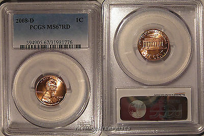 2008 D Lincoln Cent 1c PCGS MS67RD Business Strike