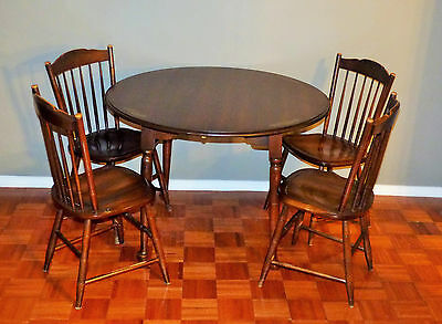 Lambert L. Hitchcock Wood Dining Table With 4 Chairs Vintage  American Furniture