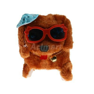 Brown Color Walking Barking Tail Wagging Cute Puppy Dog with Glowing Eyes