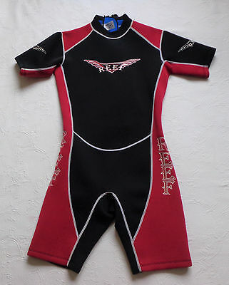 Reef Wetsuit Wet Suit Wetsuit Shorty Size MS Black and Red Unisex