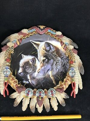 Hamilton Collection Summer Majesty Al Agnew Protector of the Wolf Shield Vintage