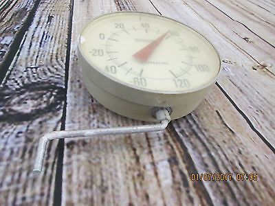 Unique - RARE Vintage SPRINGFIELD Outdoor house Thermometer side view Steampunk!