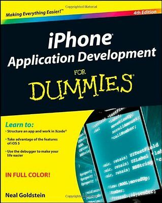iPhone Application Development For Dummies,PB,Neal Goldstein - NEW