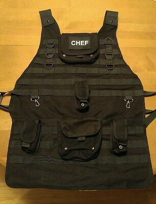 Tactical Chef Apron Storing Condiment Grilling Utensil BBQ Tool Accessory Cook