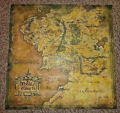 Lord of the Rings movie Middle Earth Map Poster
