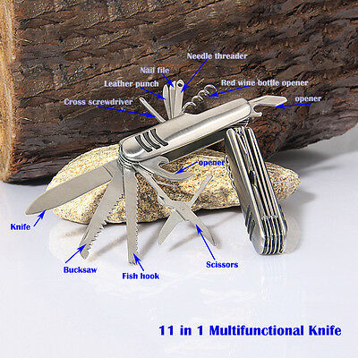 Multifunctional Outdoor Stainless Survival Swiss Knife Folding Army Knife