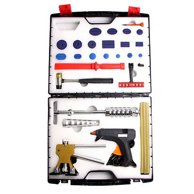 PDR Tools Puller Lifter Paintless Dent Repair Removal Hail Slide Hammer Kits Box