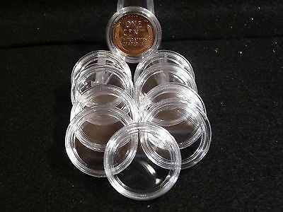 U.S.  COIN CAPSULES:   19 mm  (pkg of 10 )  AMERICAN SMALL CENTS  ( #3)