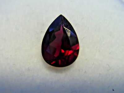 Rhodolite Garnet Gemstone Pear Cut 7 mm x 5 mm 0.65 carat faceted natural Gem