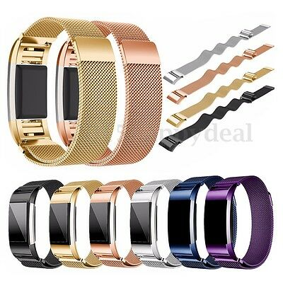 Stainless Steel Milanese Loop Replacement Band Bracelet For Fitbit Charge 2