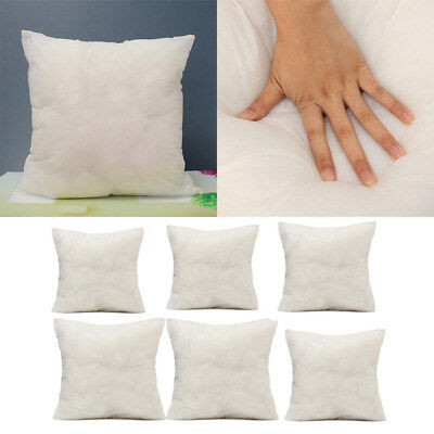 Square Cotton Throw Hold Pillow Bed Sofa Cushion Inner Pad Insert Fillers White