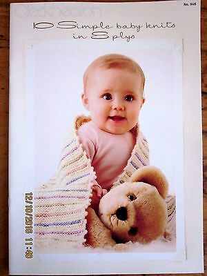 ~CLECKHEATON KNITTING BOOK 948-10 BABY KNITS in 8ply-SIZES 0000 to 9 months-VGC