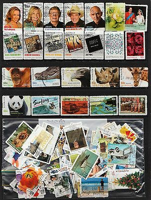 100  Australian Stamps  All Diff. 2011 To 2013   Used