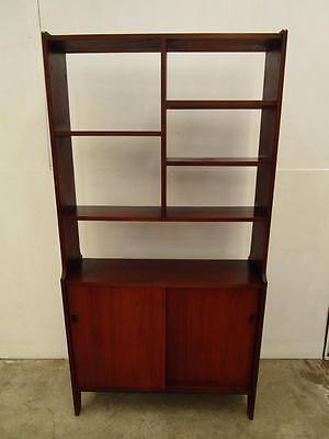 D1059 Vintage RETRO Teak Room Divider Bookshelf with Cupboard