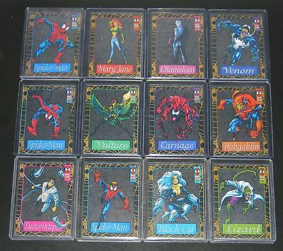 1994 Amazing Spider-Man SUSPENDED ANIMATION Insert Set of 12 Cards NM/M