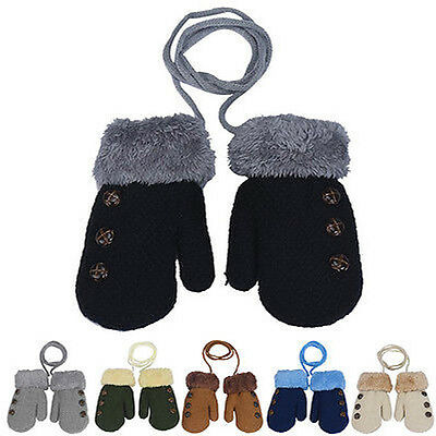 New Snow Flower Winter Warm Toddlers Girl/Boy Baby Kids knitting Gloves Mittens