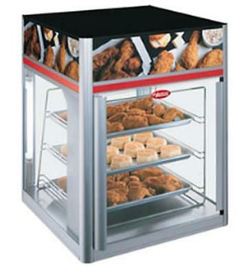 Hatco FSD-1X-120-QS 1 Door Stationary Display Cabinet with 3 Tier Pan Rack