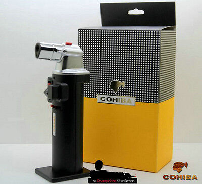 New Cohiba Black Jet Torch Flame Cigar Table Lighter