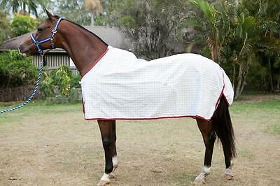 "5'0"" Ripstop Cotton Red & Navy Check Summer Clearance Horse Rug"