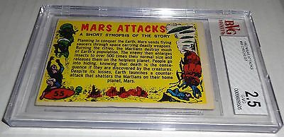 1962 Mars Attacks Checklist # 55 BVG 2.5 1st Graded Like PSA BGS Post War Grail