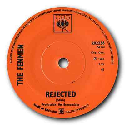 """THE FENMEN - """"REJECTED"""" c/w """"GIRL DON'T PUT ME DOWN"""" GREAT MOD BEAT 45 - HEAR IT"""