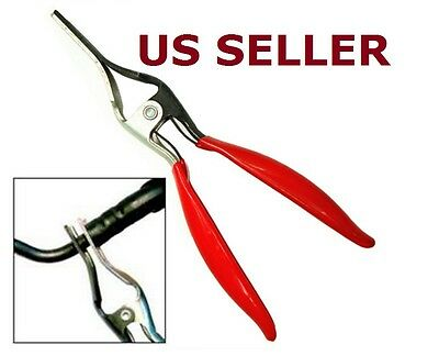 US SHIP New Angled Auto Fuel Vacuum Line Tube Hose Remover Separator Pliers Pipe