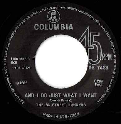 """BO STREET RUNNERS - """"And I Do Just What I Want""""-BLUE EYED TWO SIDER - HEAR IT"""
